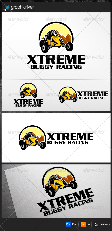 Buggy Racing Logo Templates