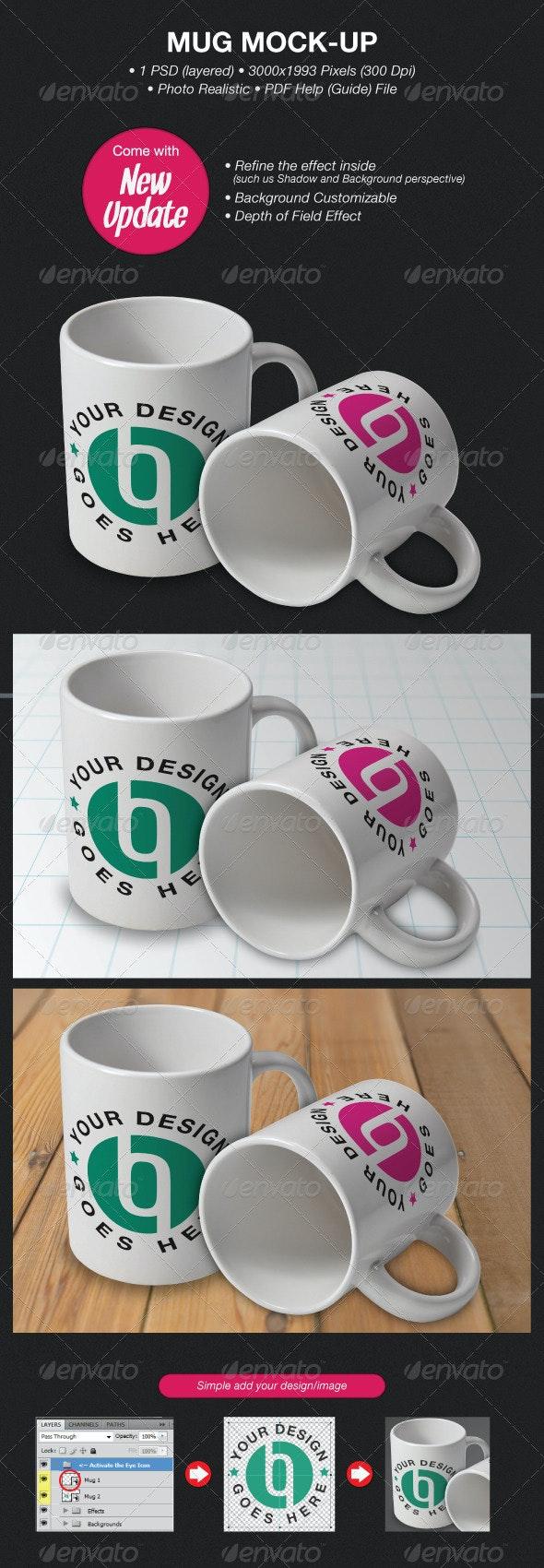 Mug Mock-Ups - Food and Drink Packaging