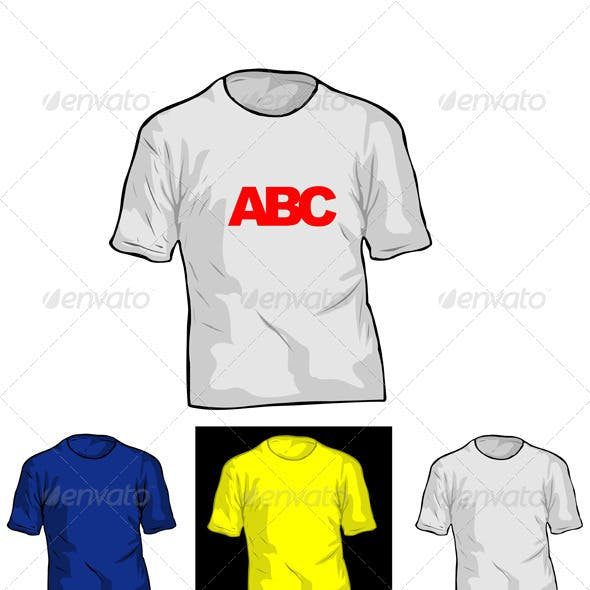 Color and White TShirt Templates.