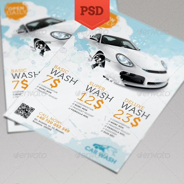 Car Wash Flyer Graphics Designs Templates From Graphicriver