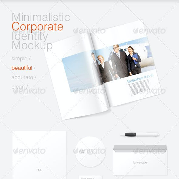 Minimal Corporate Identity and Magazine Mockup