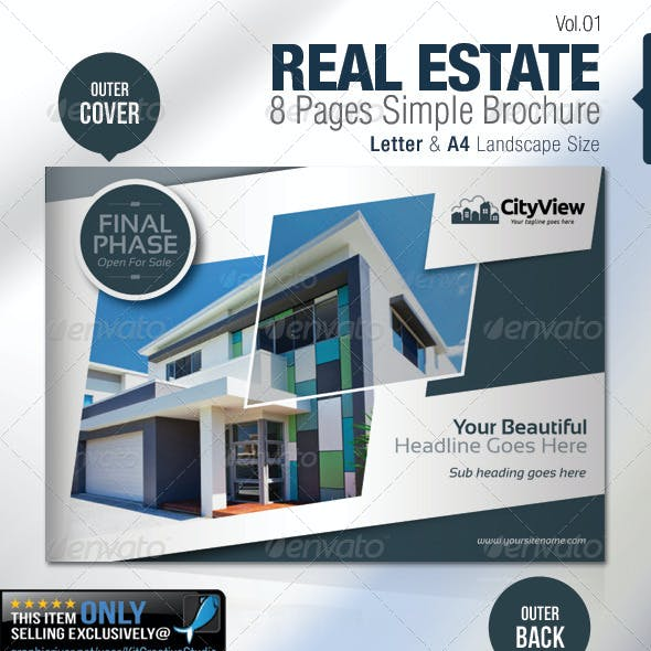 Real Estate 8 Pages Simple Brochure