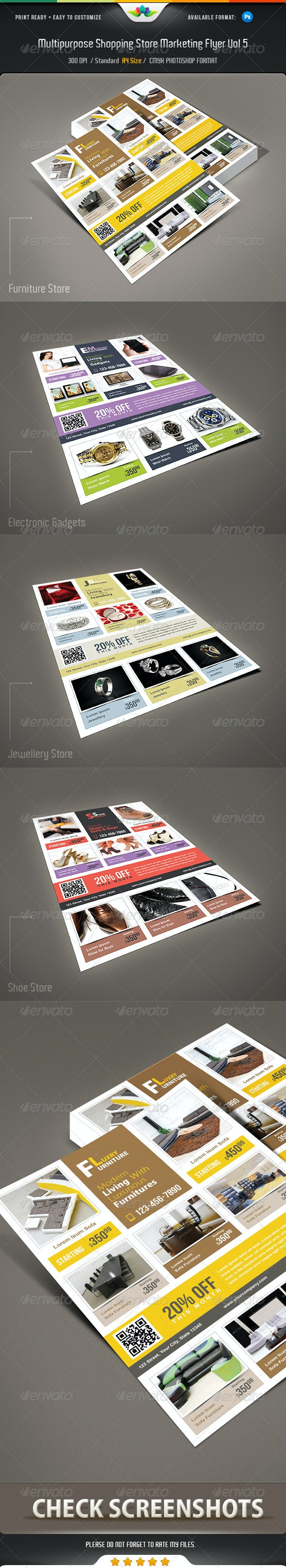 Multipurpose Shopping Store Marketing Flyer Vol 5 - Commerce Flyers