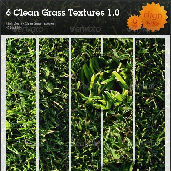 6 Clean Grass Textures 1.0