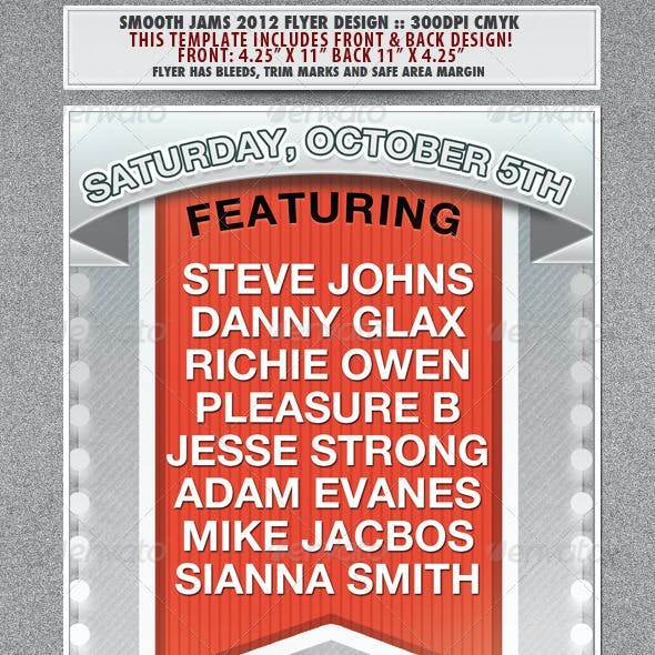 Smooth Jams 2012 Event Flyer