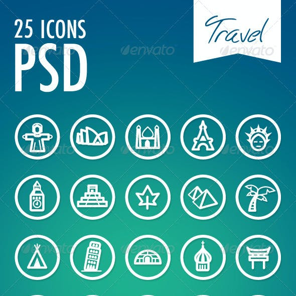 25 Vector Icons Travel