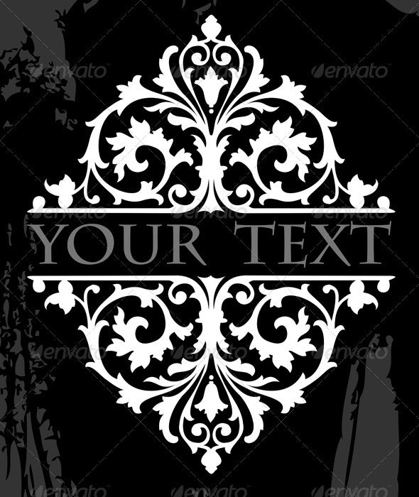 Black And White Ornate Grunge Tribal Quad - Retro Technology