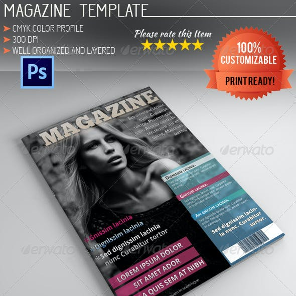 Photoshop Magazine Template