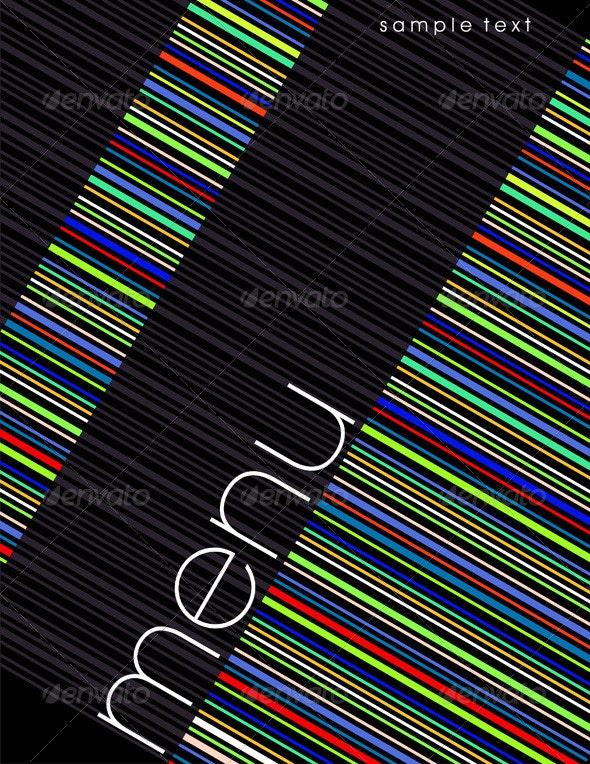 Modern Restaurant Menu Cover - Backgrounds Decorative