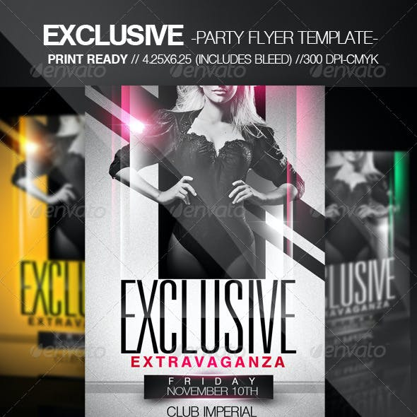 Exclusive Party Flyer
