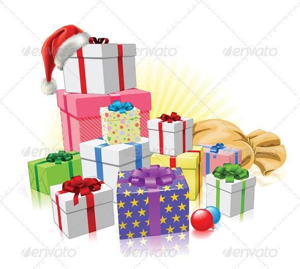 Christmas gifts Santa concept - Christmas Seasons/Holidays