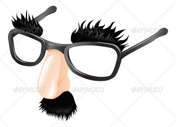 Funny disguise illustration - Man-made Objects Objects