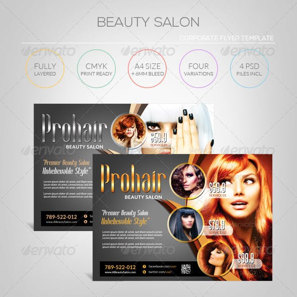 Modern Beauty Salon - Flyer Template