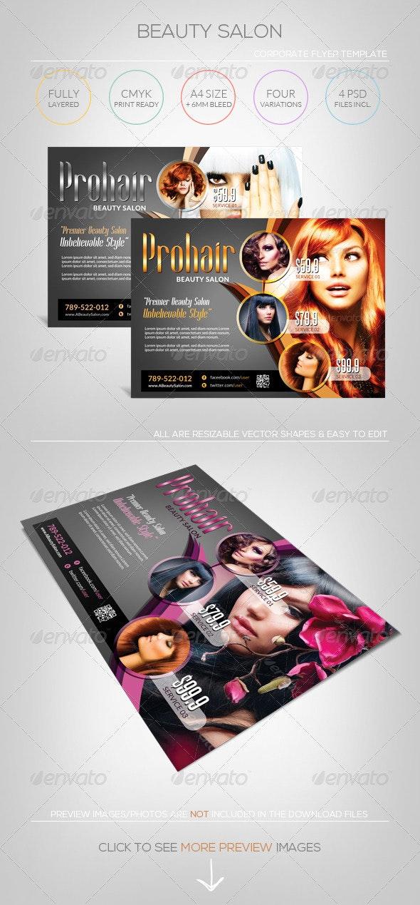 Modern Beauty Salon - Flyer Template - Corporate Flyers