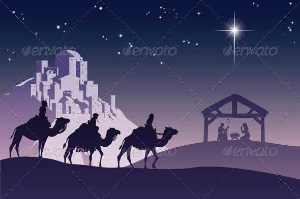 Christian Christmas Nativity Scene - Christmas Seasons/Holidays