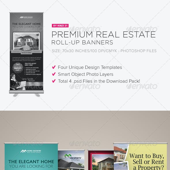 Premium Real Estate Roll-up Banners