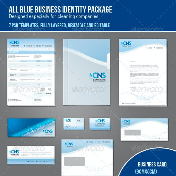 All Blue Business Identity Package
