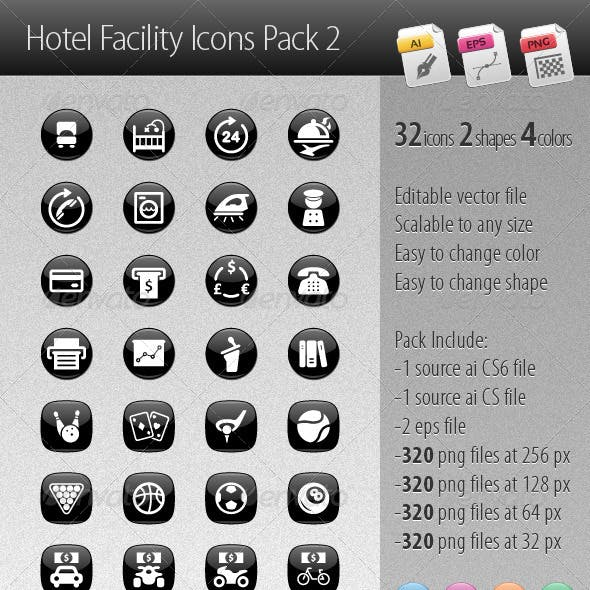 Hotel Facility Icons Pack 2