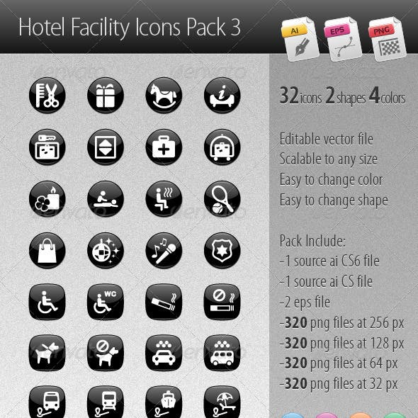 Hotel Facility Icons Pack 3