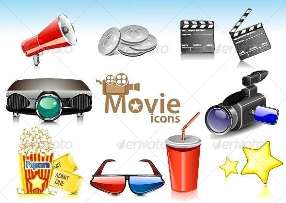 Movie Icons - Technology Conceptual