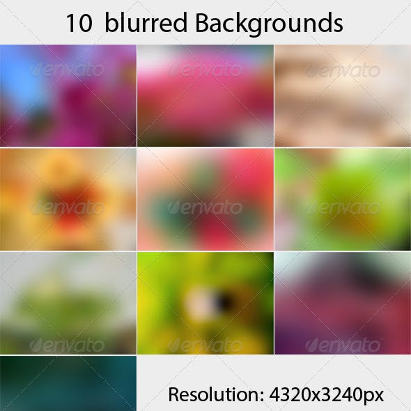 10 Blurred Backgrounds vol 2