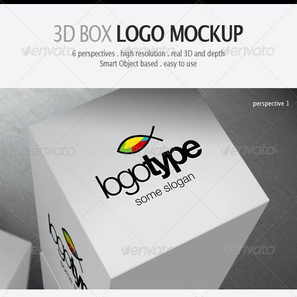 3D Box Logo Mockup