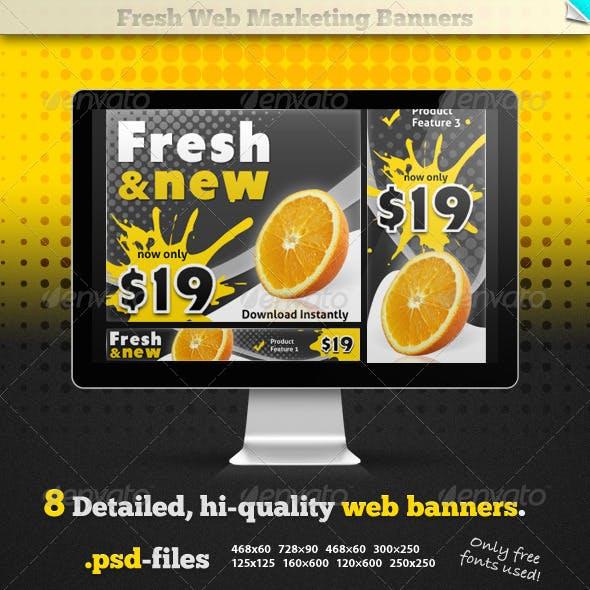 Fresh Web Marketing Banners
