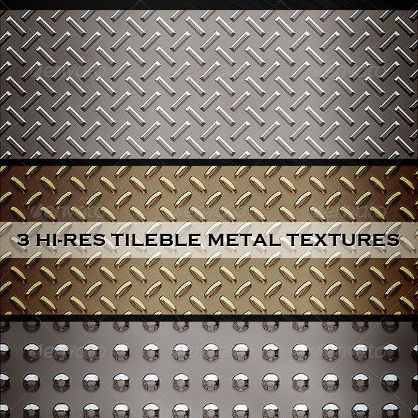 3 tileble metal textures