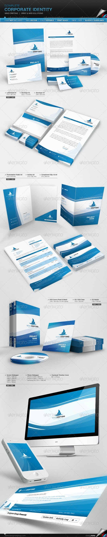 Corporate Identity - Wind Drifting - Stationery Print Templates