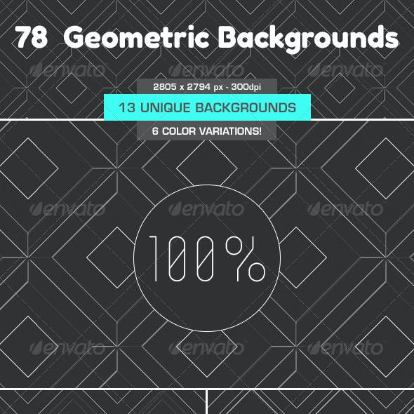 78 Geometric Backgrounds