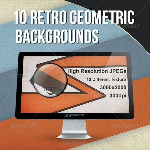 10 Retro geometric backgrounds