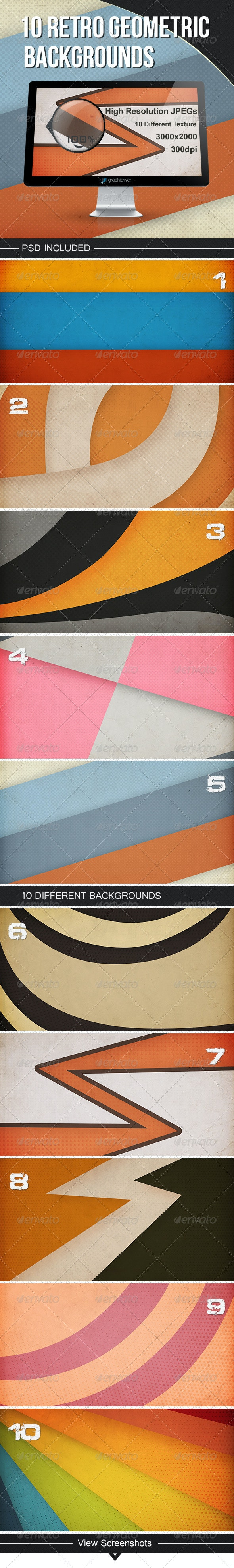10 Retro geometric backgrounds - Backgrounds Graphics