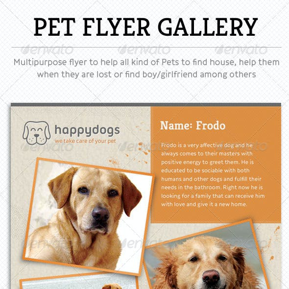 Pet Flyer Gallery