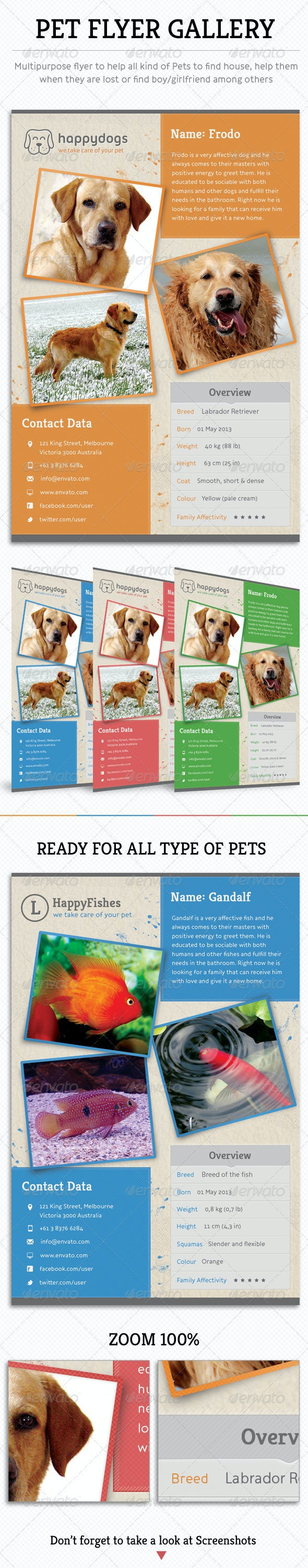Pet Flyer Gallery - Flyers Print Templates