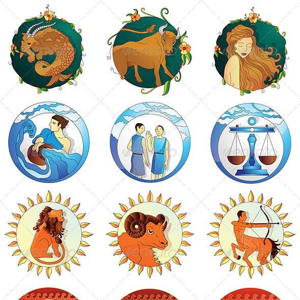 Zodiac Signs Designs Pack