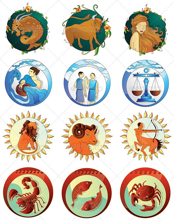 Zodiac Signs Designs Pack