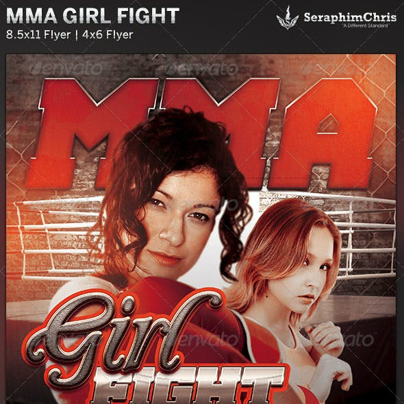 Girl Fight MMA Event Flyer Template
