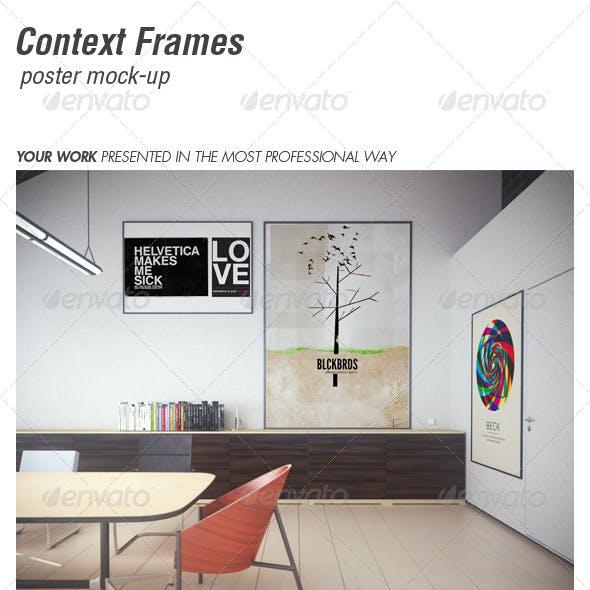 CONTEXT FRAMES poster mock-up vol. 2