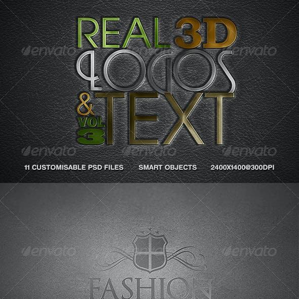 Real 3D Logos and Text - Vol3