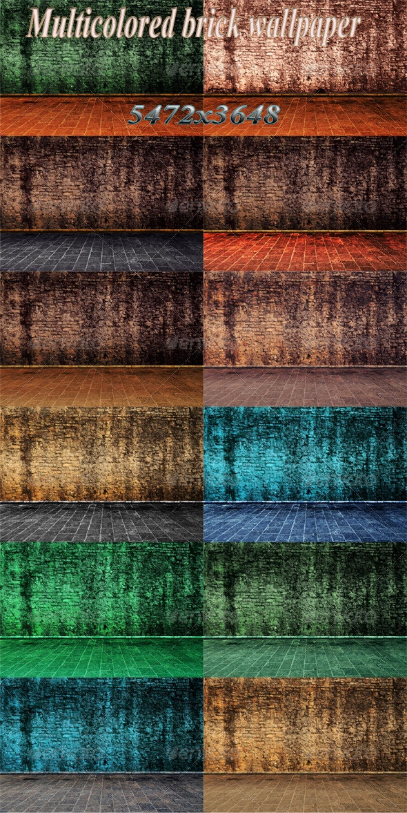Outside Wall with Ground in Color - Abstract Backgrounds