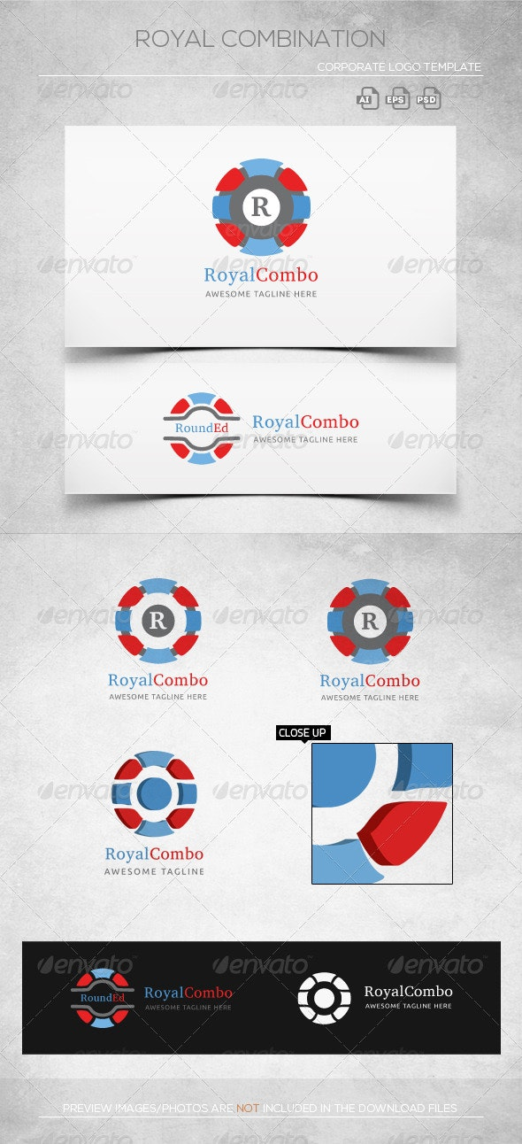 Rounded Combination - Logo Template - Objects Logo Templates