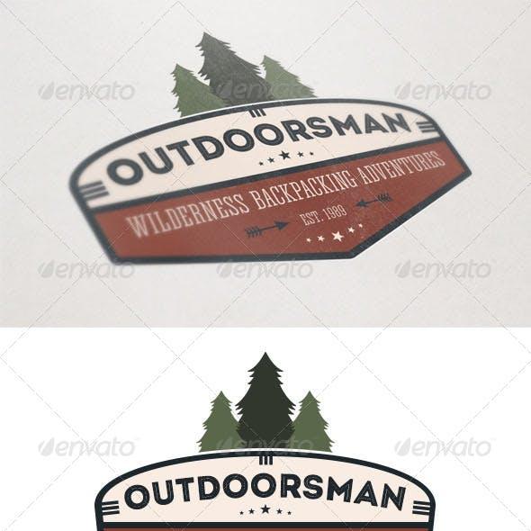 Outdoorsman Backpacking Logo