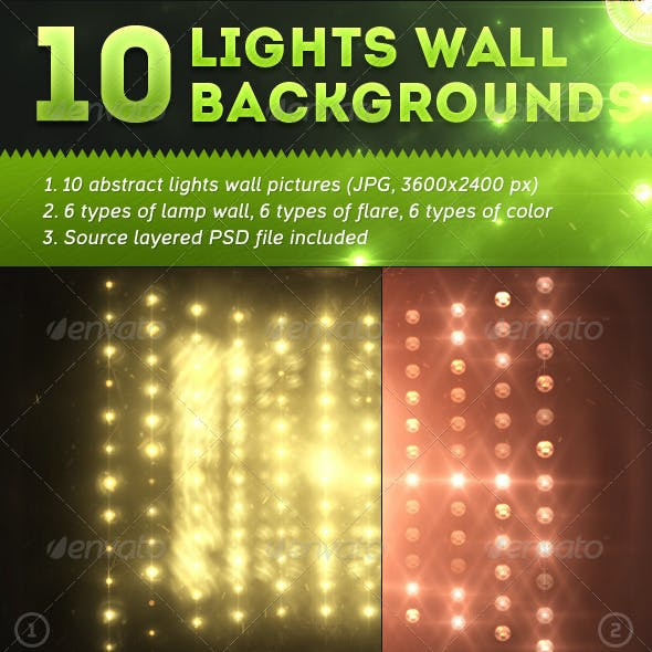 10 Lights Wall Backgrounds