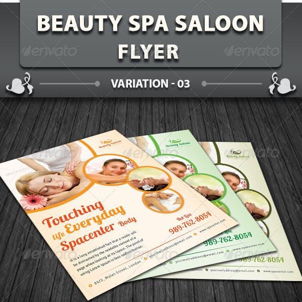 Spa & Beauty Saloon Flyer   Volume 4