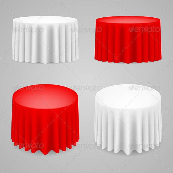 Dining Tables Set - Objects Vectors