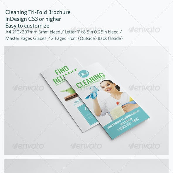 Cleaning Tri-Fold Brochure