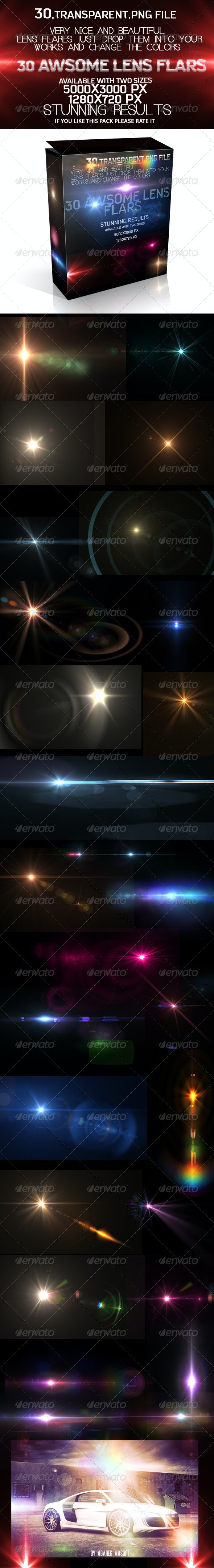 30 Awsome Lens Flare - Abstract Backgrounds