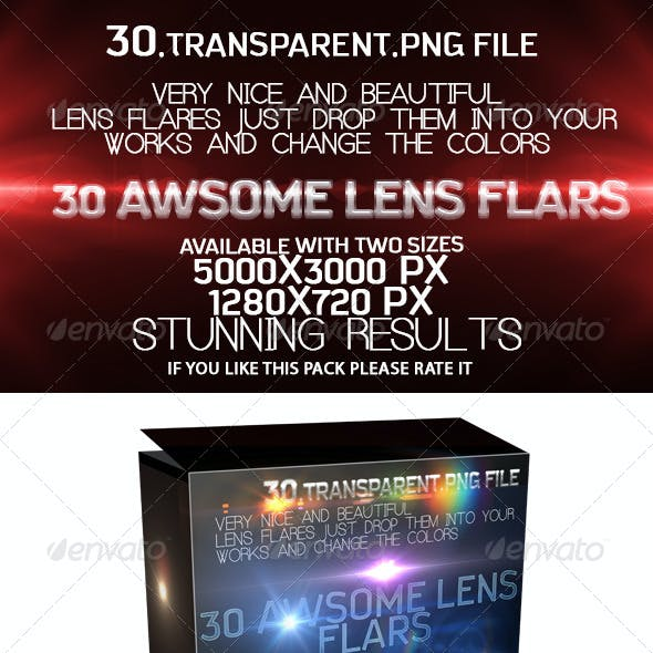 30 Awsome Lens Flare