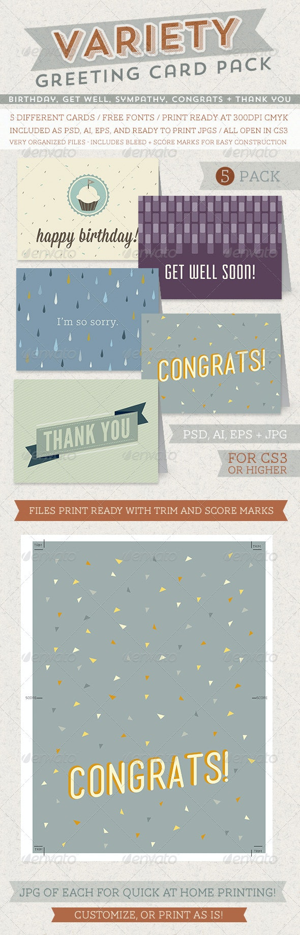 Greeting Card Variety Pack - Greeting Cards Cards & Invites