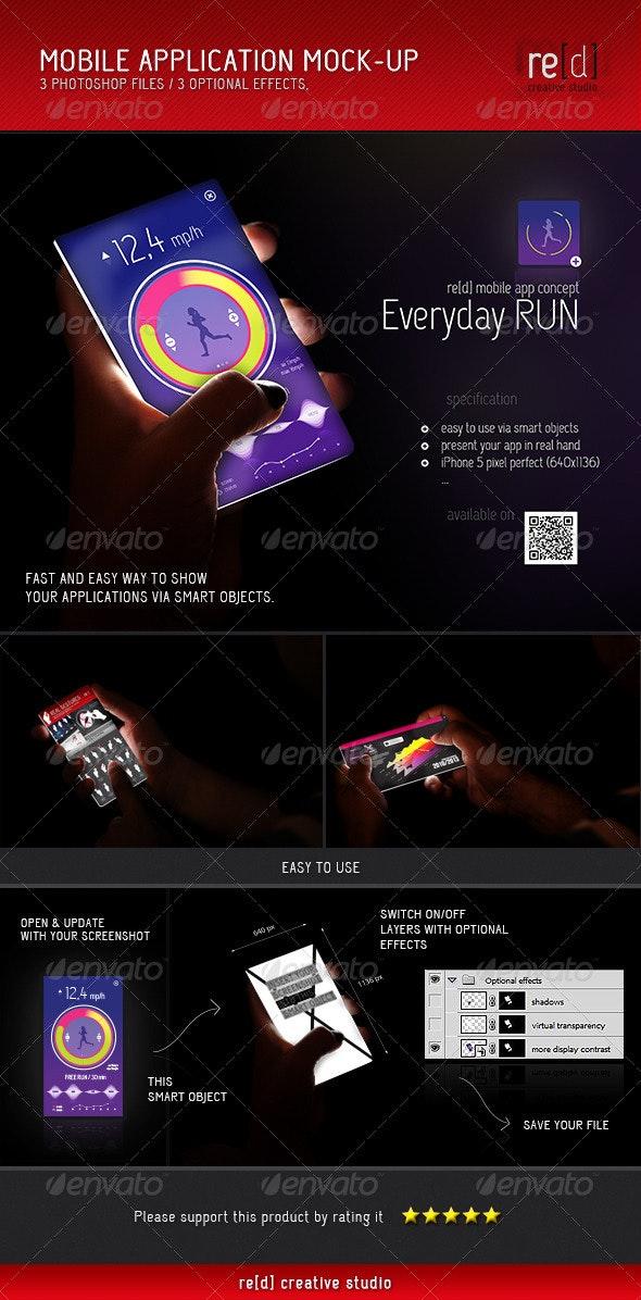 Mobile Application Mock-Up - Mobile Displays